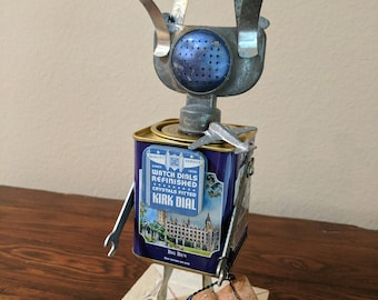 """Meet: """"Sully"""" Found Object Art Assemblage Robot"""
