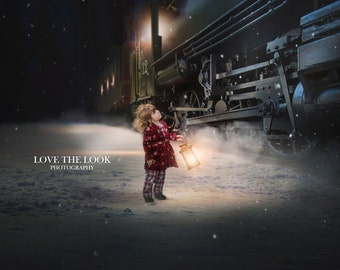 POLAR EXPRESS BELIEVE Digital Backdrop