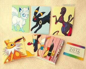 Pokemon: Huevember 2016 Collection - 30 Print Card Set [ACEO/ATC (2.5x3.5) PRINTS]