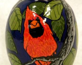 Small Cardinal Vase (Item#13)