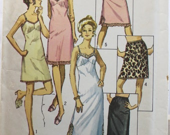 Vintage Simplicity Pattern 9115 Size 12 Slip and Half-Slip for Knit and Jersey Fabrics