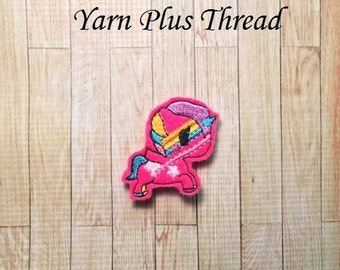Pink Feltie Embroidery Design