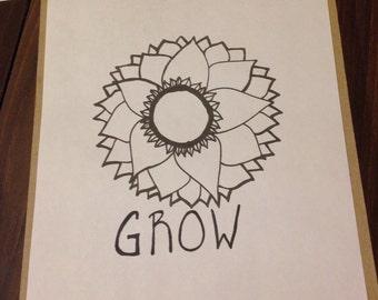 Grow: Handmade coloring book