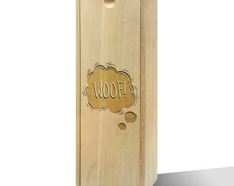 Woof! Bubble Slide Wooden Wine Box