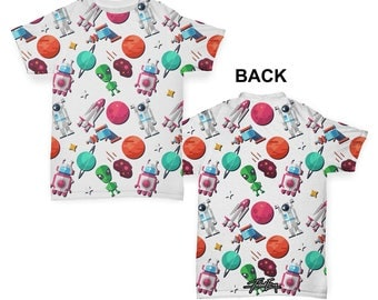 Spaceman Alien Baby Toddler ALL-OVER PRINT Baby T-shirt