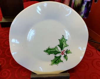 Holly Christmas Plate