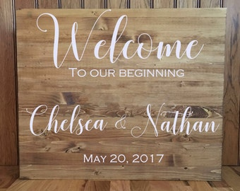Wedding Welcome Sign//Wedding Sign//Wood Sign//Rustic Wedding//24x30