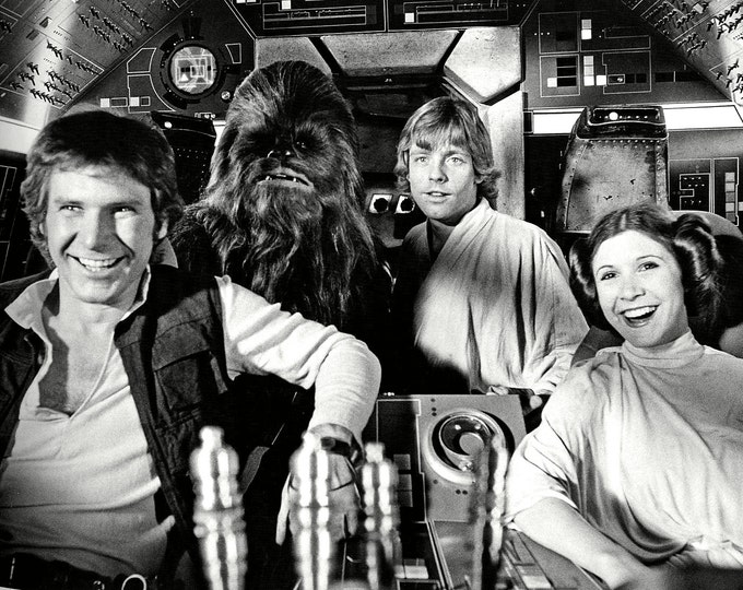 """Harrison Ford, Mark Hamill & Carrie Fisher in the Film """"Star Wars"""" - 5X7, 8X10 or 11X14 Photo (ZZ-659)"""