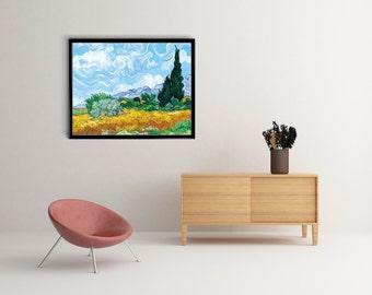 Vincent Van Gogh Starry Night Over the Rhône Print, Art Poster, poster wall art, Office Decor, Home Decor Print