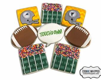 Choose any Team Football Cookies / Super Bowl Football Cookies - 3 Dozen