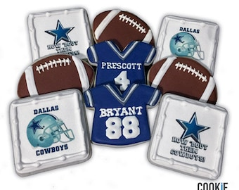 Dallas Cowboys Baby Shower Cookies   2 Dozen