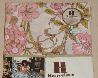 1970s Vintage floral Double bedding/bed/flat sheet Horrockses - Unopened - Brand New
