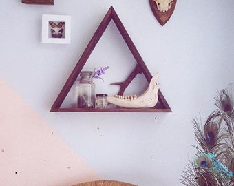Wood Triangle Shelves, Triangle Shelving, Wood Triangle Shelving, Triangle Shelves, Wooden Shelves, Wooden Shelving, Geometric Shelves