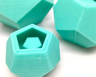 Small Dodecahedron Planter Mold - Silicone - Geometric Mold - Cast Concrete-Resin-Wax-Soap