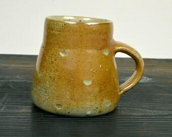 mug, wood fired stoneware