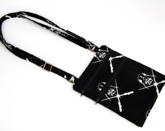 darth vader glow-in-the-dark cross-body bag, black x-body bag, purse