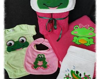 Baby girl frog pack