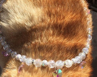 AB Crystal Bead Necklace