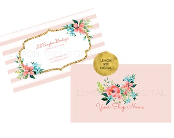 Printable business card, custom business card, business card design, vistaprint business card design, baby boutique business card