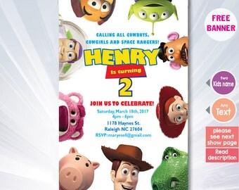 Toy Story Invitation - Toy Story Birthday Party Invitation - Toy Story Birthday - Toy Story Party - Woody - Buzz Lightyear - Printable