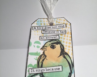 Gift Tags//Note Tags//6 Bird Tags