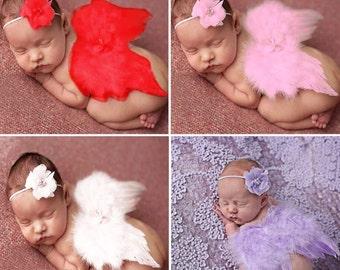 Heavenly Angel Wings Photo Props, Baby Girl Photo Prop, Wings, Baby Girl Costumes, Angel Costume, Lavender Wings or Pink Wings, Newborn