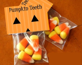 Pumpkin Teeth - bag toppers