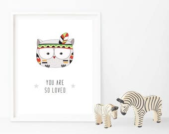 You Are So Loved - Tribal Print - Changeable Characters