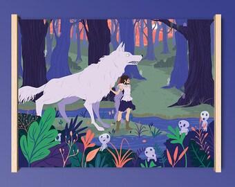 Princess Mononoke Giclee Print