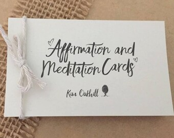 Affirmation and Meditation Cards For Brides - Bride and Bridesmaid Gift