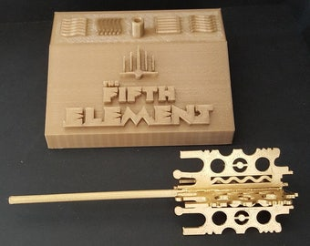 The Fifth Element Mondoshawan Tomb Key with custom stand and removable key