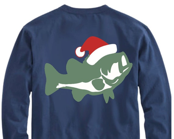 Christmas bass svg fish svg fishing svg cut file svg dxf for Fishing christmas sweater