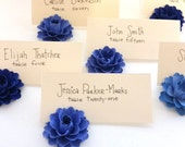 Place Card Holder | Blue Paper Flowers (Set of 30)