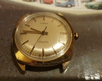 Unique 1974 Timex Gold Tone Electric Watch (NOS Movement)
