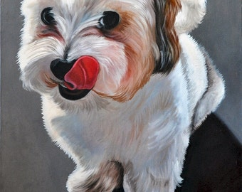Puppy, Oil Painting on Canvas