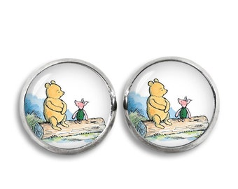 Winnie the Pooh Stud Earrings Winnie Pooh Piglet Earrings Classic Winnie the Pooh Jewelry