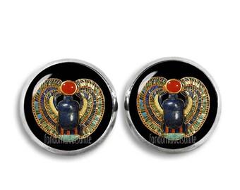 Scarab Stud Earrings Egyptian Scarab Beetle Earrings Ancient Egypt Stud Earrings