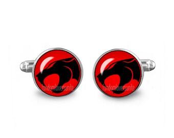 Thundercats Cuff Links Thundercats Cufflinks 16mm Cufflinks Gift for Men Groomsmen Novelty Cuff links Fandom Jewelry