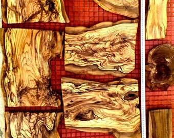 Olive wood slabs