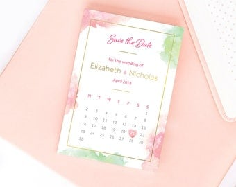 Delicate Droplets Save the Date/Wedding Announcement Cards