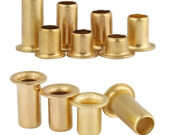Metric Brass Eyelet Rivets Crafting Findings Through Nuts Hole Hollow Grommets M3 M4
