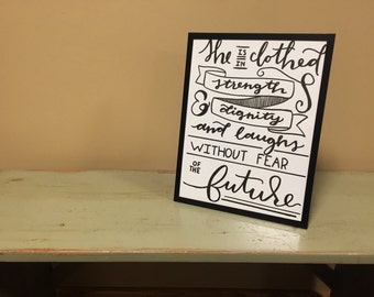 Proverbs 31:25 Framed Print