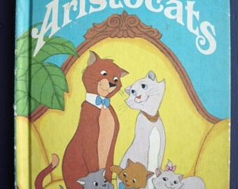 Vintage The Aristocats book Walt Disney Productions HC 1973