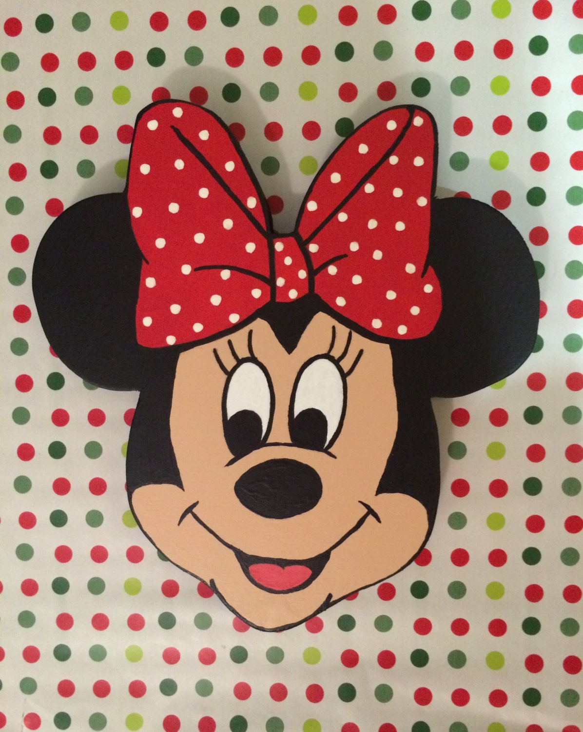 Minnie Mouse Wall Decor By Ljwooddesigns On Etsy