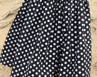 Skirt in peas, Bohemian skirt, skirt girl, skirt one size, skirt girl,