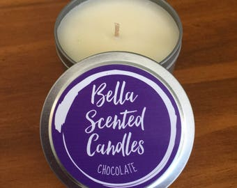 7oz Natural Soy Wax Scented Candle | Chocolate