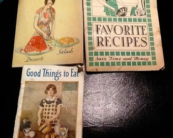 NRA - National relief act - Vintage advertising cook books