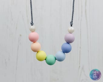Sensory Fiddle Necklace, Jewellery for Teething, Nursing Necklace, Breastfeeding Necklace, Teething Beads, New Mum Gift, Baby Shower Present