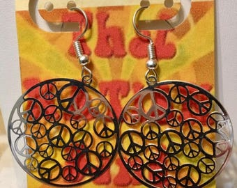 That NATION Band Peace Earrings