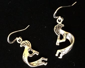 USA FREE SHIPPING!! Kokopelli Sterling Silver Earrings